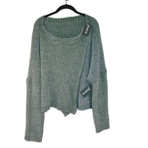 BlankNYC Sweater Pullover Cape NWT Size M SOFT